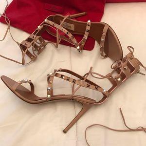 Valentino tie up strappy heels